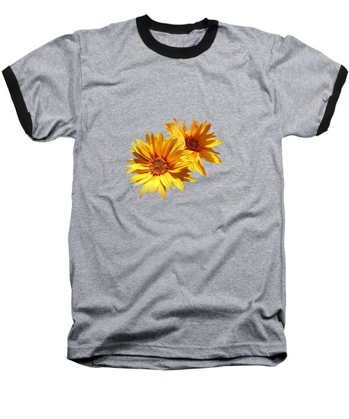 Golden Sunflowers Baseball T-Shirt