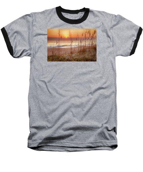Golden Sunrise Baseball T-Shirt by David Cote