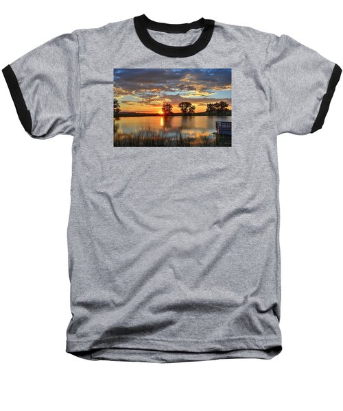 Golden Sunrise Baseball T-Shirt by Fiskr Larsen