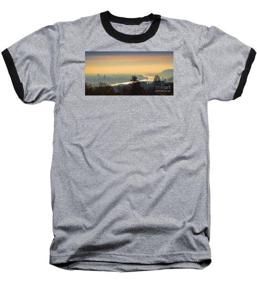 Baseball T-Shirt featuring the photograph Golden Sunrise Over Budapest by Jivko Nakev