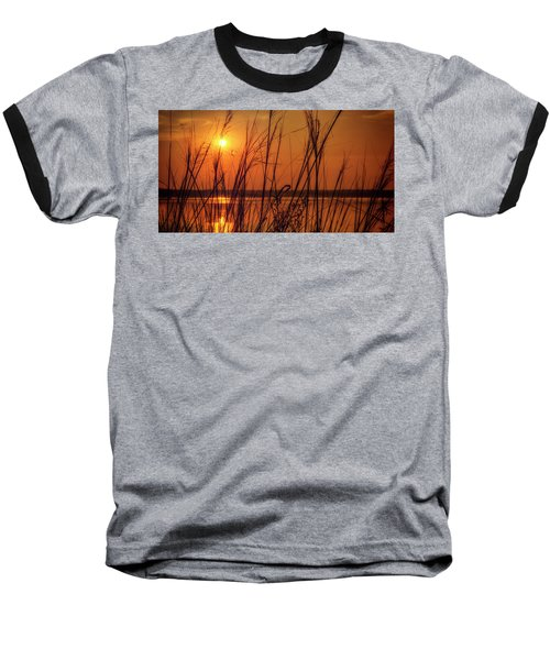 Golden Sunset At The Lake Baseball T-Shirt
