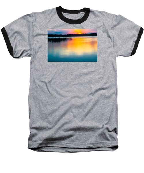 Golden Sunset Baseball T-Shirt by Parker Cunningham