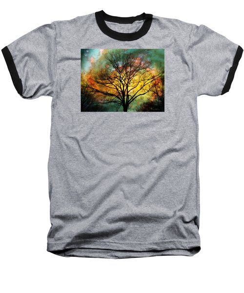 Golden Sunset Treescape Baseball T-Shirt