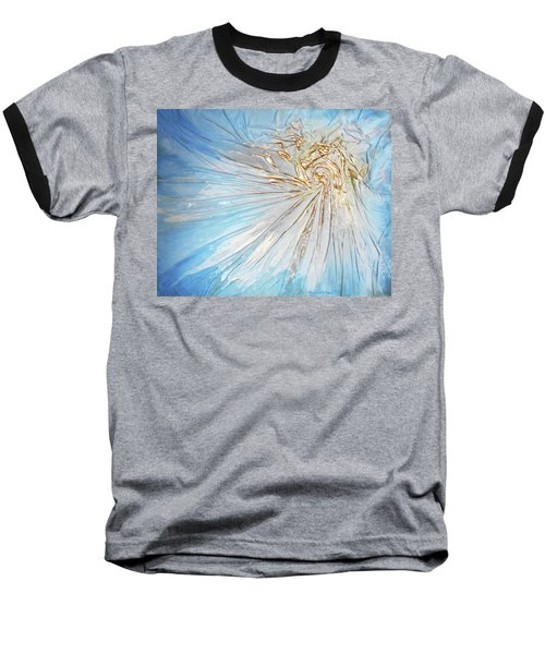 Baseball T-Shirt featuring the mixed media Golden Sunshine by Angela Stout