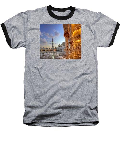 Golden Temple Baseball T-Shirt by John Swartz
