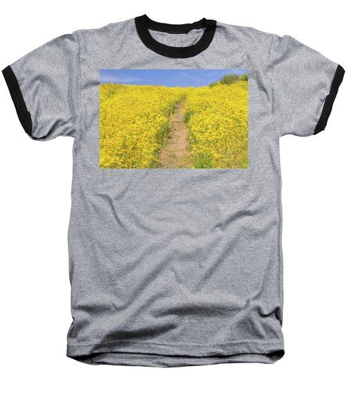 Baseball T-Shirt featuring the photograph Golden Trail by Marc Crumpler