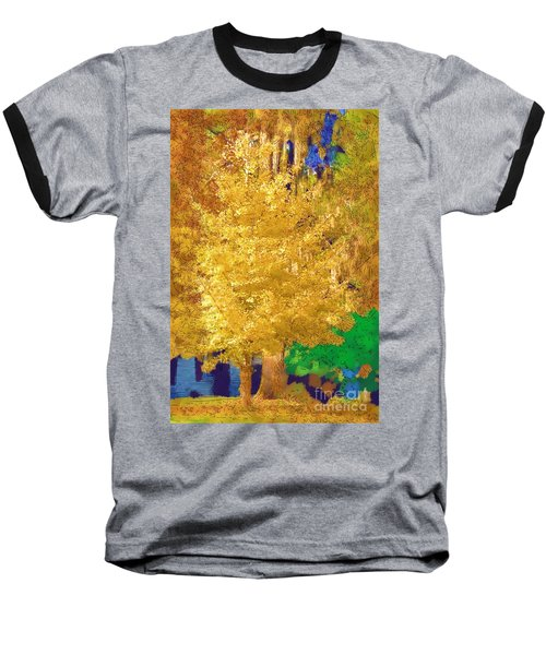 Baseball T-Shirt featuring the photograph Golden Tree by Donna Bentley