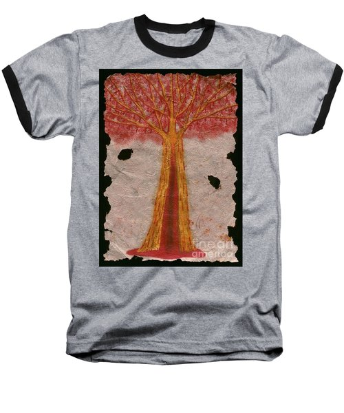 Golden Trees Crying Tears Of Blood Baseball T-Shirt by Talisa Hartley