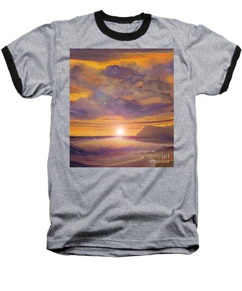 Golden Wave Baseball T-Shirt by Holly Martinson