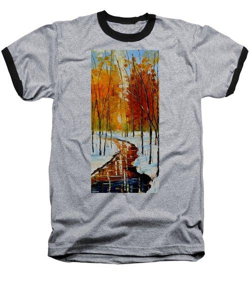 Golden Winter Baseball T-Shirt