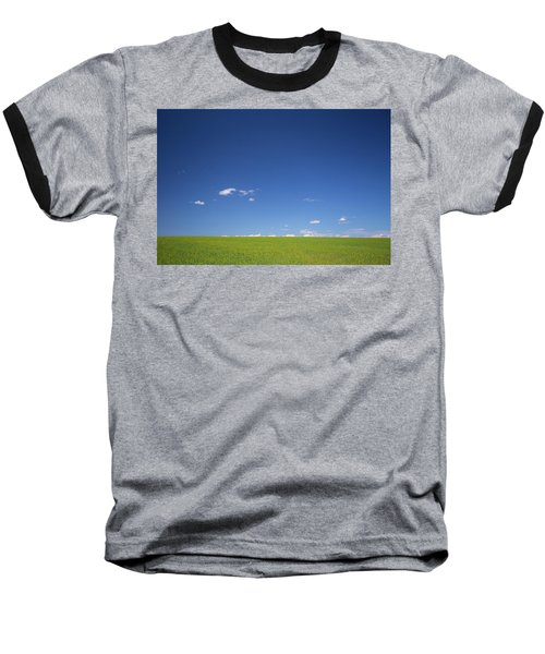 Golden Yellow Of Big Wheat Field,meadows And Closeup Seed With B Baseball T-Shirt