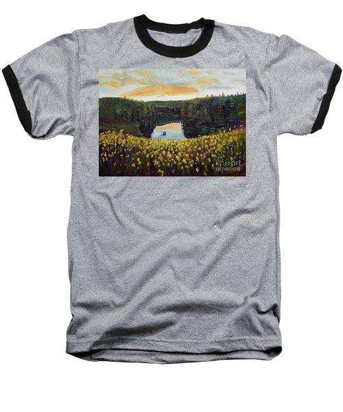 Goldenrods On Davenport Lake-ellijay, Ga  Baseball T-Shirt by Jan Dappen