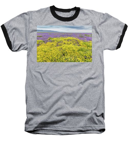 Baseball T-Shirt featuring the photograph Goldfield And Phacelia by Marc Crumpler