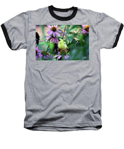 Goldfinch On Coneflowers Baseball T-Shirt