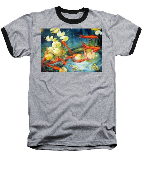 Goldfish Pond Baseball T-Shirt