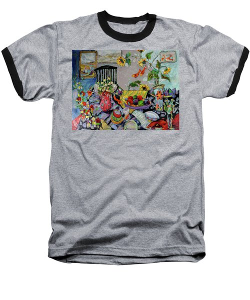 Goldfish Rumble Baseball T-Shirt by Sharon Furner
