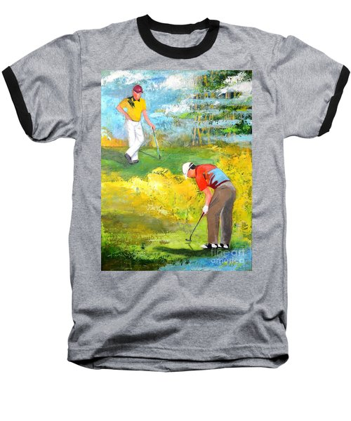 Golf Buddies #2 Baseball T-Shirt by Betty M M Wong