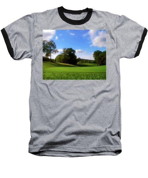Golf Course Landscape Baseball T-Shirt