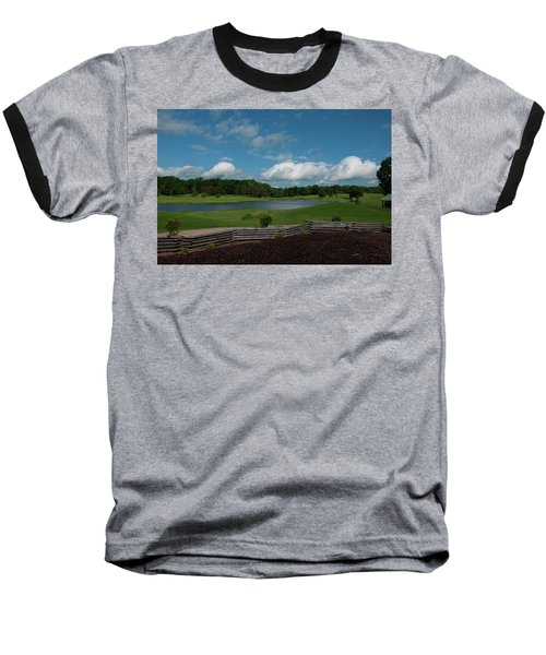 Golf Course The Back 9 Baseball T-Shirt by Chris Flees