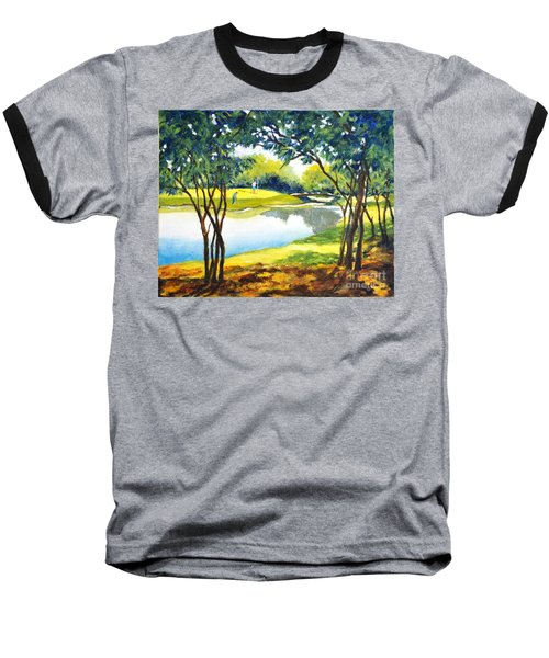 Golf Haven Baseball T-Shirt by Betty M M Wong
