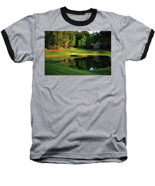 Golf The Landing #3 Reynolds Plantation Lake Oconee Ga Art Baseball T-Shirt