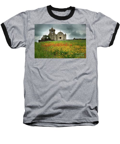Goliad In Spring Baseball T-Shirt by Jon Holiday