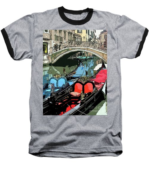 Gondolas Fresco  Baseball T-Shirt