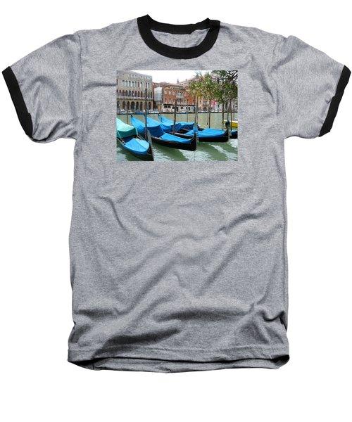 Gondolas Of Venice Baseball T-Shirt by Lisa Boyd