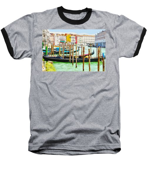 Gondolas On The Grand Canal Venice Italy Baseball T-Shirt