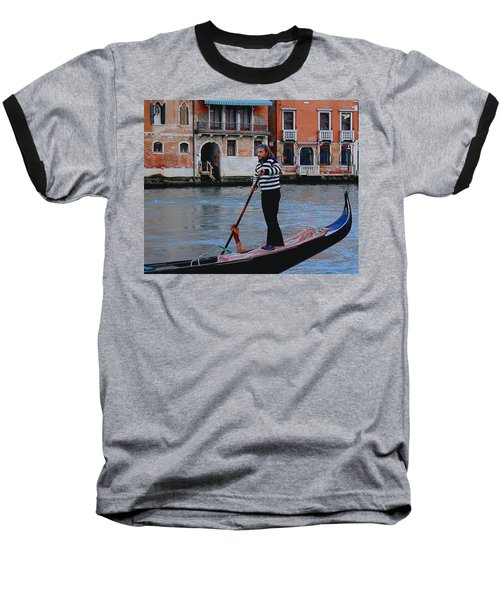 Gondolier Venice Baseball T-Shirt