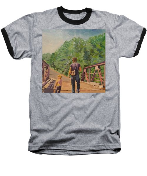 Gone Fishing With Dad Baseball T-Shirt