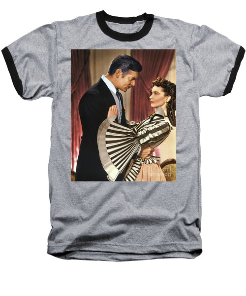 Gone With The Wind - 1939 - Completely Retouched In Color Baseball T-Shirt