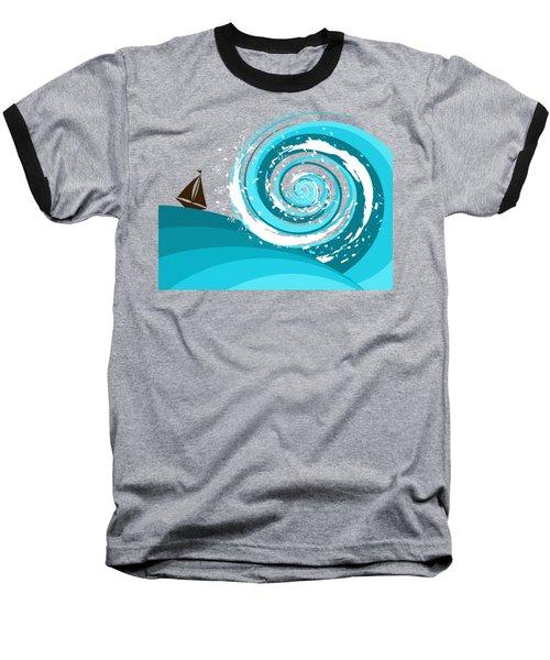 Gonna Need A Bigger Boat Baseball T-Shirt by Shawna Rowe