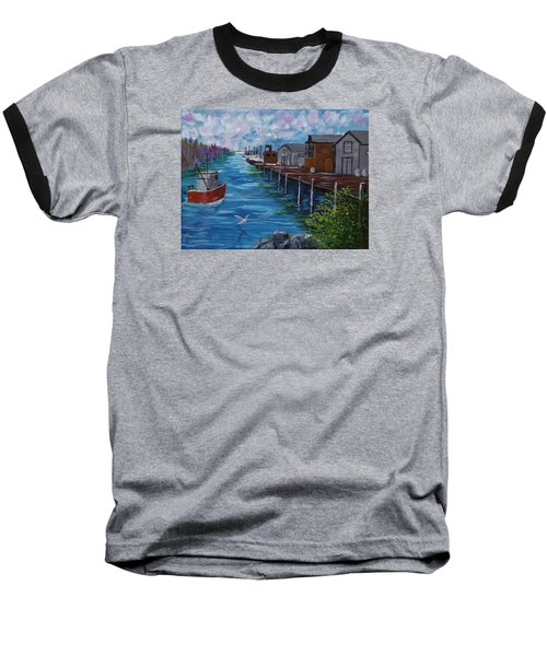 Good Day Fishing Baseball T-Shirt by Mike Caitham
