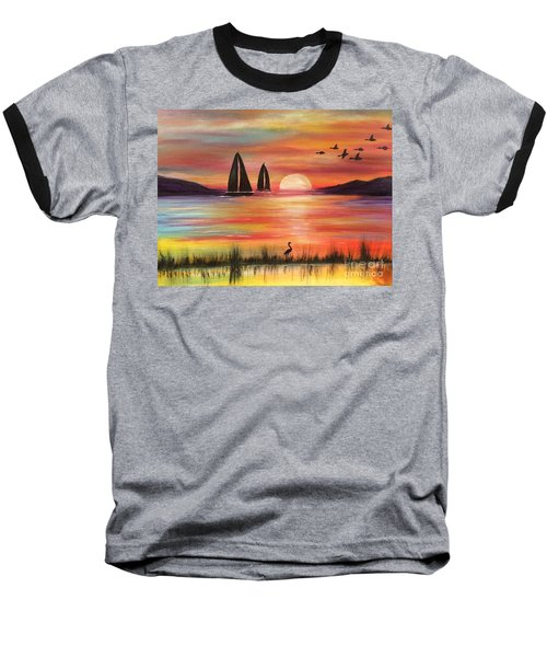 Baseball T-Shirt featuring the painting Good Eveving by Denise Tomasura