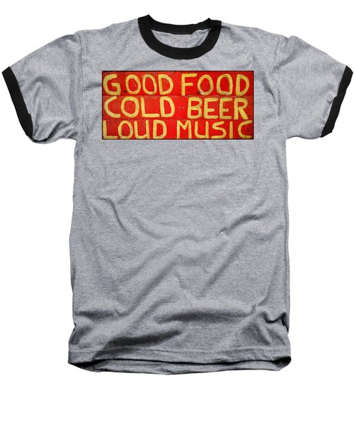 Good Food Baseball T-Shirt