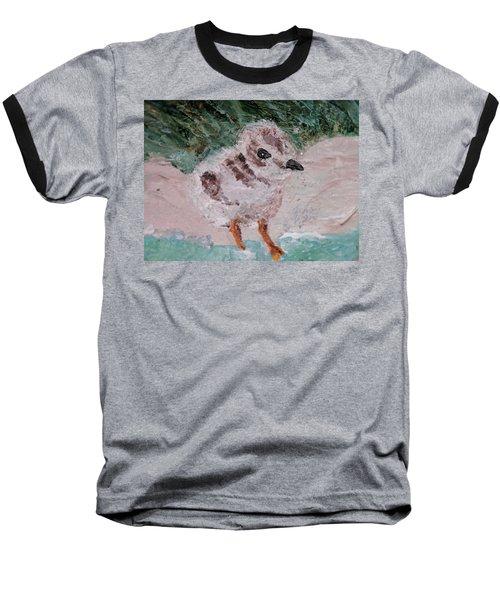Good Harbor Piping Plover Chick #1 Baseball T-Shirt