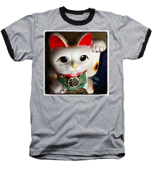 Baseball T-Shirt featuring the photograph Good Meowning. #myfab5 by Mr Photojimsf