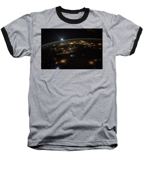 Good Morning From The International Space Station Baseball T-Shirt