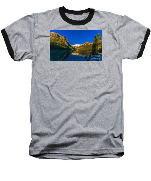 Good Morning Lake Louise Baseball T-Shirt