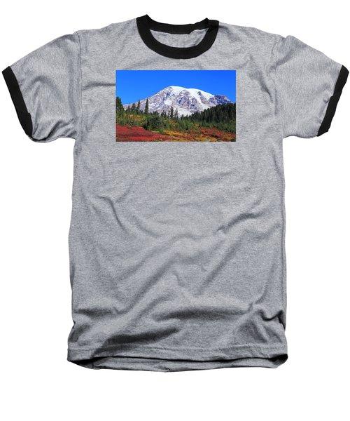 Baseball T-Shirt featuring the photograph Good Morning Mount Rainier by Lynn Hopwood