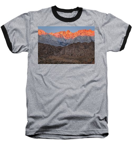 Good Morning Mount Whitney Baseball T-Shirt