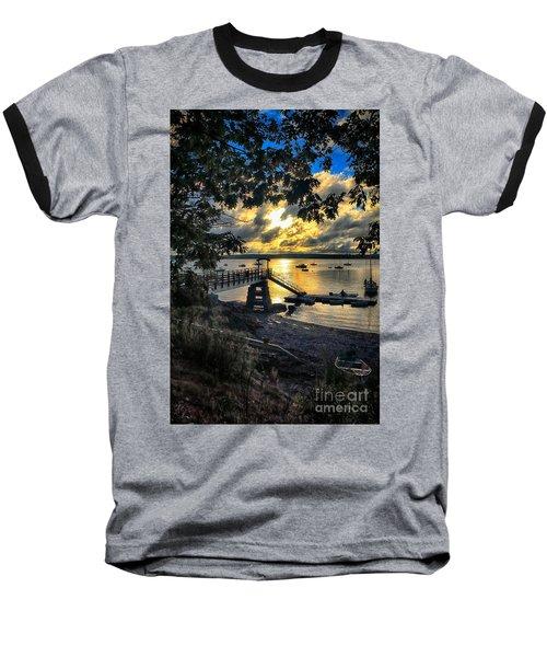 Good Night Madeleine Point Baseball T-Shirt by Elizabeth Dow