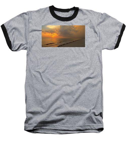 Good Night Sun Baseball T-Shirt by Sean Allen