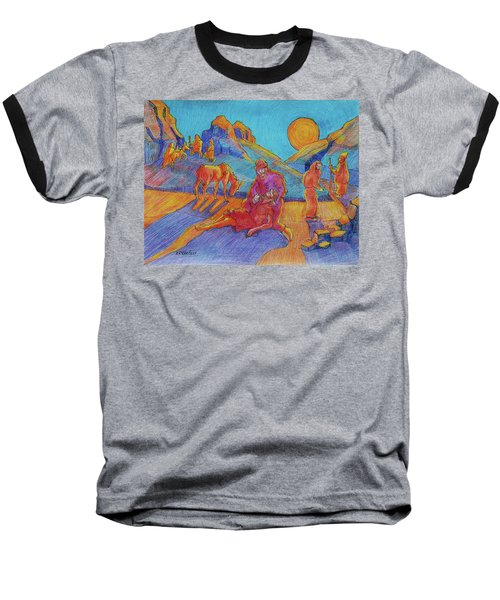 Good Samaritan Parable Painting Bertram Poole Baseball T-Shirt