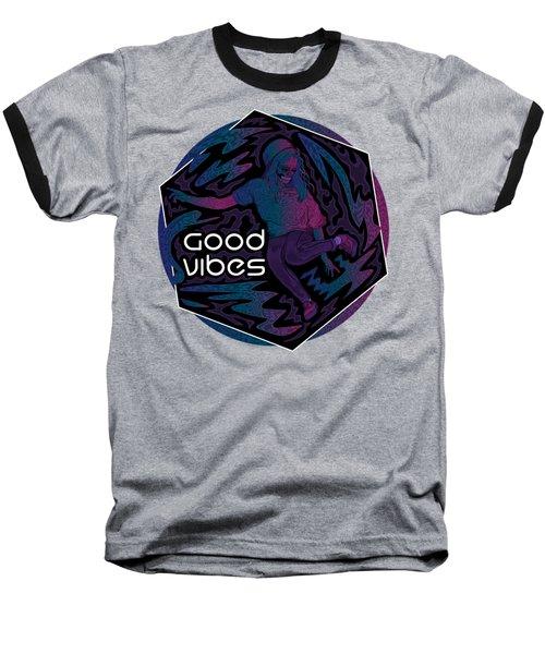 Good Vibes Skelegirl Baseball T-Shirt