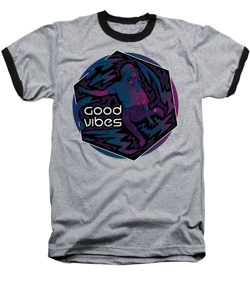Good Vibes Skelegirl Baseball T-Shirt