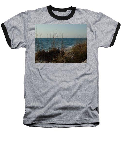 Baseball T-Shirt featuring the photograph Goodbye Cruel World by Robert Margetts
