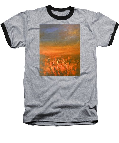 Baseball T-Shirt featuring the painting Goodbye by Jane See