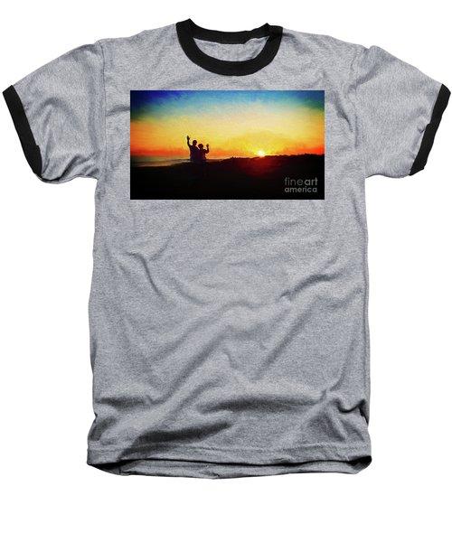 Goodnight Mr. Sun  Baseball T-Shirt